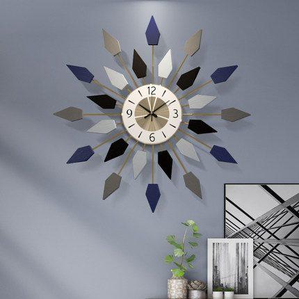 Đồng hồ treo tường bông hoa phong cách Bắc Âu