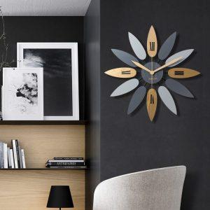 Đồng hồ treo tường hiện đại phong cách tối giản