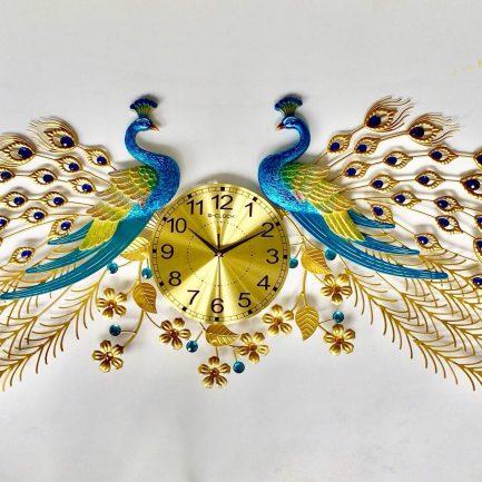 Đồng hồ treo tường con công rẻ