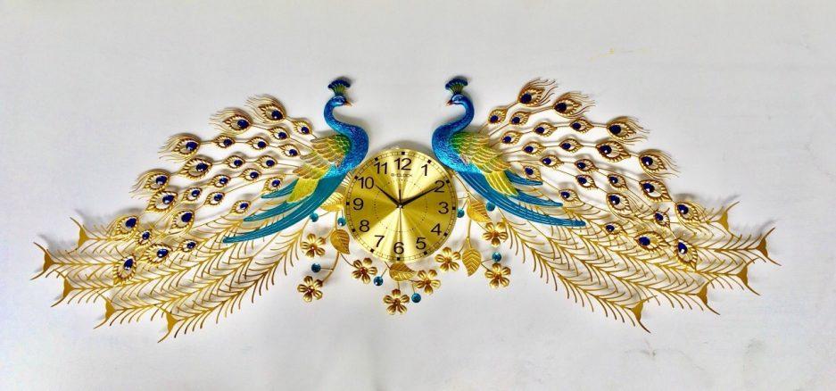 Đồng hồ treo tường 2 con công