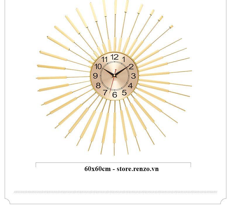 đồng hồ treo tường phong cách hiện đại