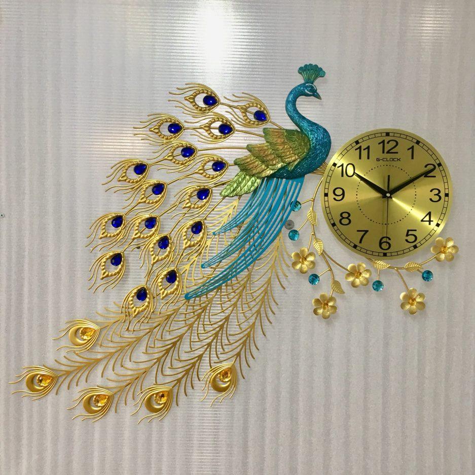 Đồng hồ treo tường con công