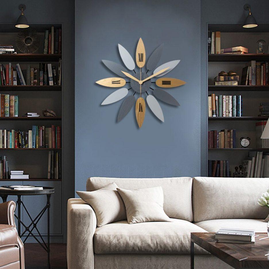 Đồng hồ treo tường hiện đại trang trí phòng khách