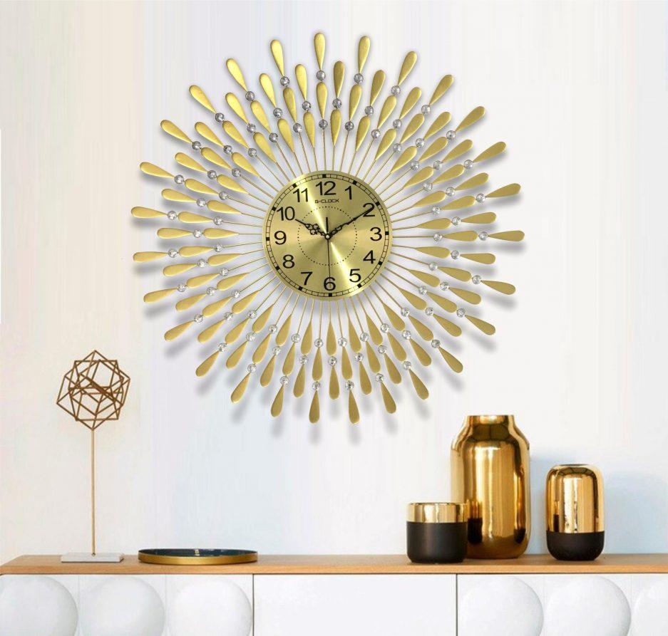 đồng hồ treo tường trang trí hình giọt nước