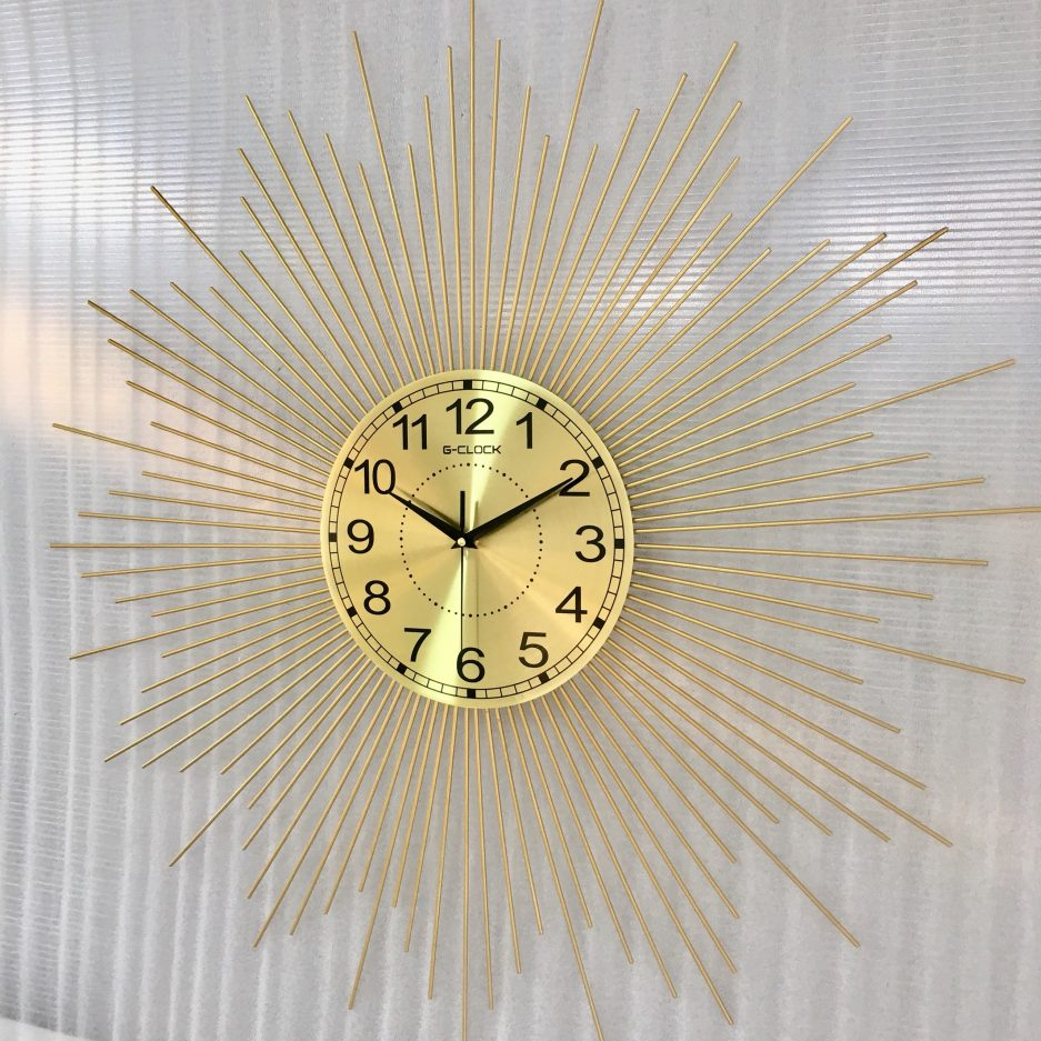 Đồng hồ treo tường hiện đại hàng Việt Nam chất lượng cao trang trí phòng khách kích thước 70x70cm